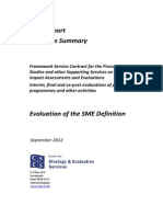 Executive Summary Evaluation Sme Definition En
