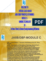 DBF JAIIB Principles of Banking Bank Tech Module C