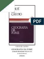 Josúe de Castro - Geografia da Fome