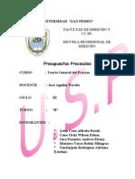 Presupuestos Procesales Monografia