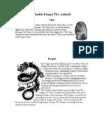 Shaolin Kempo Five Animals
