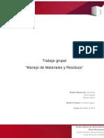 informe manejo materiales