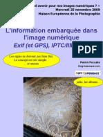 L'information embarquée dans l'image numérique