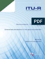 R REC SM.329!12!201209 I!!PDF E (Unwanted Emissions)