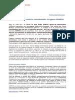 CP - France Stratégie Confie Sa Visibilité Média à Ozinfos