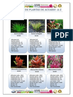 Catálogo de plantas de acuario