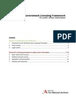 Uk Government Licensing Framework