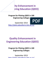 QEEE-Sep2013 Presentation to TEQIP Colleges