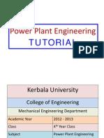 Power Plant - Tutorial Sheets
