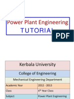 Power Plant - Tutorial Sheets