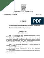 Legea Nr. 269-2003 Privind Statutul Corpului Diplomatic Şi Consular Al României