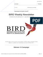 Bahrain Weekly Newsletter Issue 1