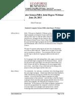 Transcript Webinar Mba Cs 062013
