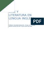 0cine y Literatura en Lengua Inglesa