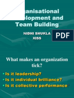 Team Building and organisational Development