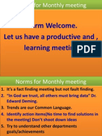 Norms for Monthly Meeting