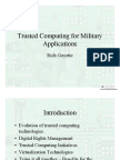 Trusted Computing for Military Applications