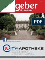 Ratgeber aus Ihrer City-Apotheke – Juli 2014