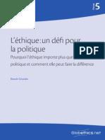 l'Éthique Et Politique
