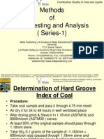 Coal Testing and Analysis Methods