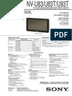 Sony Gps Navigation Nv-u83t