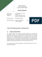 CPU Scheduling Algo in Operating System