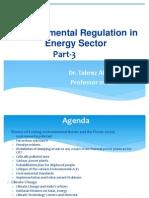 Part-3 Lecture- Environmnetal Regulation in Energy Sector