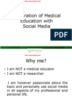 Integration of Medical Education with Social Media