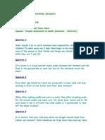 Questionslist Q&A session 28/10/08