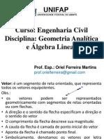 1º aula (vetores) 25_04_2014
