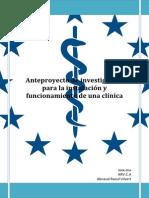 Anteproyecto de Investigación Para La Instalación y Funcionamiento de Una Clínica