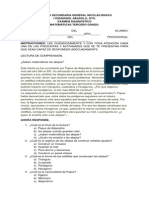 Examen Diagnóstico Tercer Grado