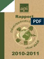 Rapport api restauration2010-2011