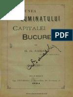 Cestiunea Luminatului Capitalei Bucuresci, B.G. Assan, 1894