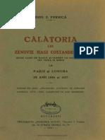 D. Furnica, Calatoria Lui Zenovie Hagi Constandin Pop La Paris Si Londra in 1826-1827, Bucuresti, 1930