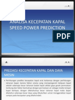 Materi Speed Power Prediction