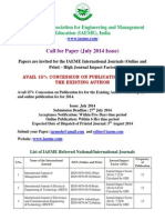 Call for Paper (July 2014 Issue)
