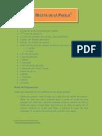 Receta Paella PDF
