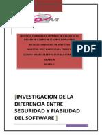 INGENIERIA de SOFTWARE_3554_investigacion de La Diferencia Entre Seguridad y Fiabilidad Del Software