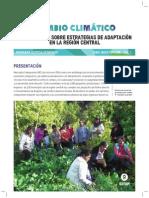 Cambio Climático, Aprendizajes Sobre Estrategias de Adaptación en la Región Central