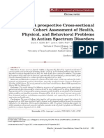 A Prospective Cross-sectional Cohort Assessment of Health, Physical, And Behavioral Problems in Autism Spectrum Disorders_Spring, Spring