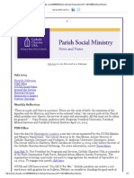 July 2014 Catholic Charities USA Parish Social Ministry Section News and Notes