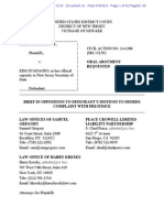 Brief in Opposition to Defendant's Motion to Dismiss New Jersey Lawsuit