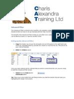Excel Advanced Filter