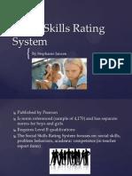 social skills rating system
