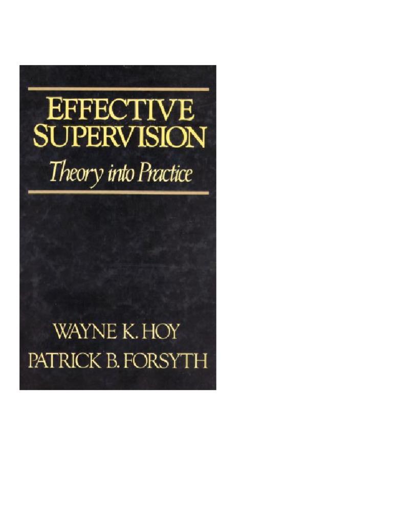 effective supervision_book hoy k wayne_bi | system | teachers