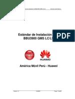 Estandar de Instalacion BBU3900 GSM LC-LS V1.2
