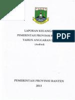 Laporan Keuangan PemProv Banten TA 2012