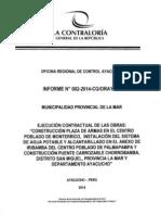 Veeduría_ Obras en centros poblados del distrito de San Miguel - provincia de La Mar - Ayacucho