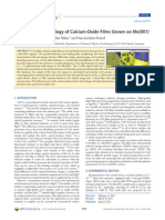 Growth and Morphology of Calcium-Oxide Films Grown on Mo
